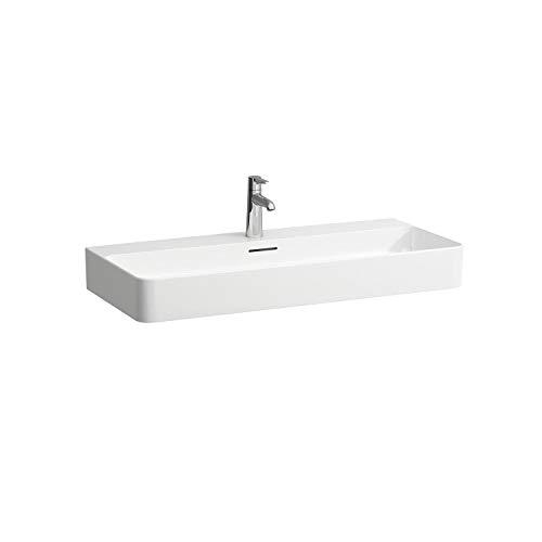 Laufen VAL Aufsatzwaschtisch, 3 Hahnlöcher, ohne Überlauf, US geschl. 950x420, weiß, Farbe: Weiß