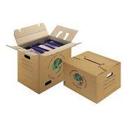 1 Verpackungseinheit (20 Stück) 2-wellige Umzugskartons mit Tragegriffen<br/>Innenmaße: L 480 mm x B 320 mm x H 360 mm<br/>geeignet für Aktenordner thumbnail