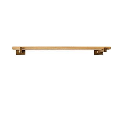 Gyp scaffale in legno massiccio, scaffale in legno classico a muro scaffale a muro scrittoio sul muro scaffale decorativo a mensola rivestimento in tessuto da tavolo da 20 a 120 cm acquistare ( dimensioni : 120*20*2cm )