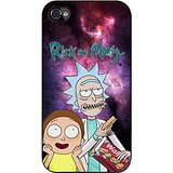 Rick and morty on nebula galaxy For Funda iphone 4 4s cover
