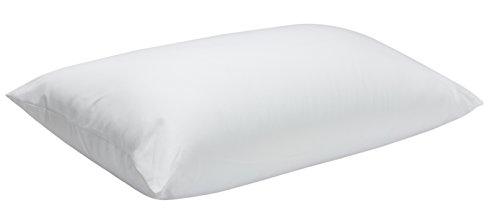 Pikolin home - guanciale in fibra, fodera antiacaro, 100% cotone, media-alta durezza, 40 x 75 cm, altezza 20 cm. tutte le misure