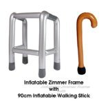 inflatable zimmer frame and walking stick set great fun - Zimmer Frame
