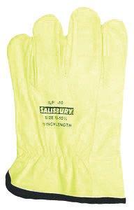 Salisbury par Honeywell Taille 10 Jaune 25,4 cm ILP Série Top Grain Cuir de vache basse tension Linesmen de gants pour écran avec brassard droites, cuir Palm côté et orange Vinyle arrière