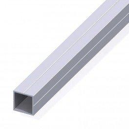 Tube carré de 0.3m 23.5 pour m20 alu brut - structure modulaire