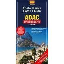 Costa Blanca, Costa Cálida: 1:200000. Zwischen dem Golf von Valencia und dem Golf von Almeria. Mit Cityplänen Alicante, Almeria und Murcia