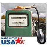 MSD Mouse Pad/Tapis en caoutchouc naturel avec bords cousus 9,8x 7,9vintage gaz...