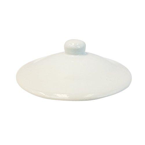 Porzellan-Wasserspendertopf - 2,5 Liter - kommt mit Schutzring und verchromtem Zapfhahn - für die Verwendung mit Wasser, Kombucha, Punsch und mehr 2.5 Gallon White Crock Lid White Crock