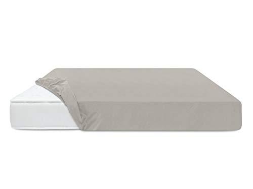 Feinbiber-Spannbetttuch für Kinderbetten - aus 100% Baumwolle - Made in Germany - erhältlich in 8 Farben, 70 x 140 cm, Silber