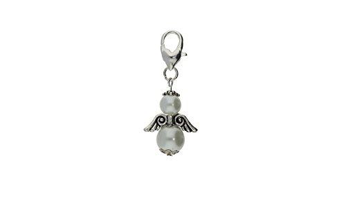 DIY Set für 30 Perlenengel Schutzengel in verschiedenen Farben / Hochzeit Konfirmation Geburtstag Weihnacht Taufe Kommunion Geschenk Gastgeschenk EAS1, Farben:weiß