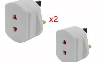 2-X-Travel-Plug-UK-Shaver-AdaptorPlug-Compatible-With-ShaverToothbrushContinental-Lifetime-Warranty