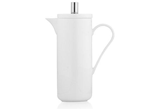 La Cafetière-Lexi Cafetière en porcelaine Fine French Press Cafetière Blanc