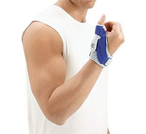 Bauerfeind RhizoLoc - Férula ortopédica para dedo pulgar izquierdo (titanio) Talla:Talla 1