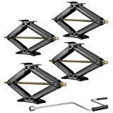 "RecPro Set of 4 5000 lb 30"" RV Trailer Stabilizer Leveling Scissor Jacks"