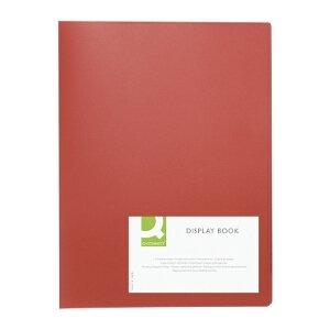 Q-Connect KF01250 Anzeige Präsentation Buchen 20 Pocket-Rot - Anzeige Buchen
