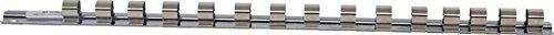 BGS 2540 Rail pour douilles avec 15 clips Argent, 415 mm