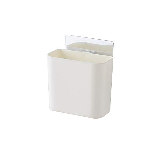 KDSANSO Badezimmer Ablagekorb, Mehrzweck Adhesive Caddy Korb Wandhalterung Föhn Halter Wohnaccessoires Speicher organisator Set,Weiß 10.5 * 11.5 * 5cm