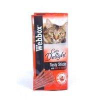 Webbox Cats Delight Tasty Cat Sticks Beef and Rabbit, 30g Cat Treat