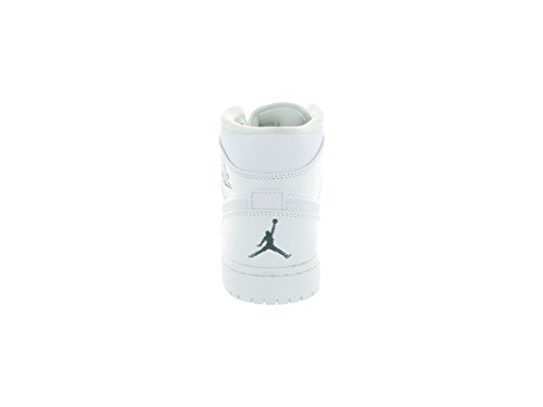 NIKE Air Jordan 1Mid 554724–102Homme Chaussures de Sport weiss (WHITE/COOL GREY-WHITE)