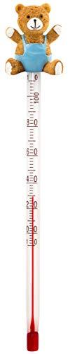 Lantelme Glas Babyflaschenthermometer Bär Analog Getränke Lebensmittel Thermometer Babyflasche Teeflasche 4392 -