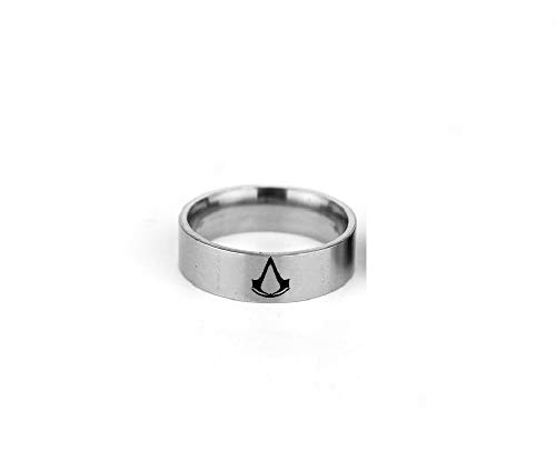 el Ring Fancy Dress Costume Accessories Finger Triangle Jewelry Gift Assassin's Creed for Best Friends 7# ()