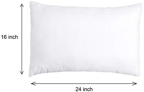 Amazon Brand - Solimo 2-Piece Bed Pillow Set - 40 x 60 cm, White Image 4