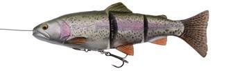 Savage Gear 4D Line Thru Trout - Gummiforelle Swimbait, Gummifisch zum Spinnfischen, Gummiköder zum Spinnangeln, Hechtköder, Farbe:Rainbow;Länge / Gewicht /Schwimmverhalten:20cm / 93g / langsam sinkend