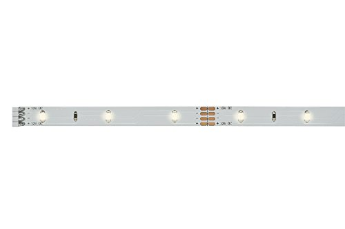 Paulmann 70459 YourLED ECO Stripe 1 m LED Strip unbeschichtet Lichtband 3000 K Warmweiß Weiß Lichtstreifen 2,4W 160 Lumen 30 LED 12V DC