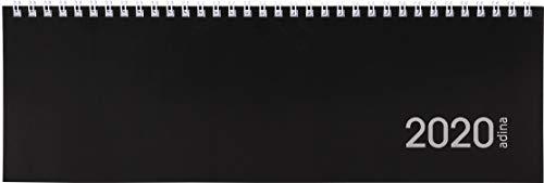 Tischquerkalender 1 Woche auf 1 Seite schwarzer Kartondeckel Schreibtischkalender Tischkalender Marke ADINA 30x10cm