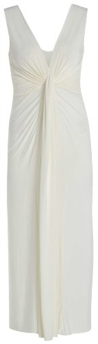 Frauen Plus Size griechischen Boob Knot Steuerung Promi-Maxi Kleid 48-50 (Plus Grecian Kleid Size)