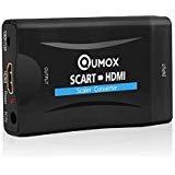 QUMOX Scart auf HDMI Konverter Video Scaler Wandler 1080P HD für HDTV STB VHS Xbox PS3 Sky DVD Blu-ray