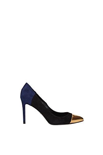 Decolletes Gucci Donna Camoscio Nero, Blu e Oro 354796BRK808088 Nero 36EU