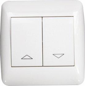 Preisvergleich Produktbild Doppelwippschalter Auf / Ab, Unterputz weiß, 230 V/AC