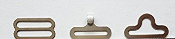100 Sets Bow Tie Clip Hardware Cravat Clips Hakenverschluss für Krawatte Strap Silber
