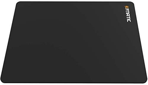 Fnatic Focus 2 Gaming E-Sports Mauspad (Größe L - 487x372x4.5mm) wasserabweisend mit rutschfester Unterseite, weiche Stoffoberfläche für Computer, PC, Laptop, Large - schwarz