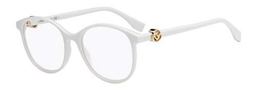 Fendi Damen FF 0299 VK6 51 Sonnenbrille, Weiß (White),
