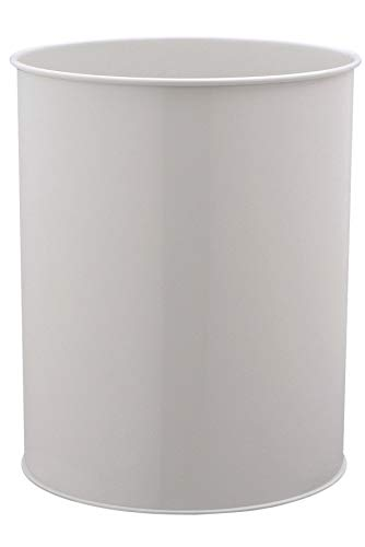 Durable 330110 Papierkorb Metall rund (15 Liter) grau