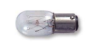 Hemline Glühlampe für Nähmaschine mit Steckfassung (Bajonettfassung) Größe Small, 15W/240V