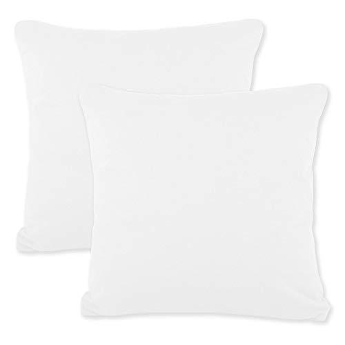 CelinaTex BeNature Kissenbezug Doppelpack 50 x 50 cm weißBezug Jersey-Baumwolle Kissenbezug 5001812 -