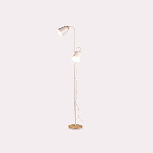 CLOTHES UK- Rétro Style Réglable En Bois Lampadaire E27 Creative Fer Bend Bouton Salon Étude Lampe De Plancher Blanc Lampadaire