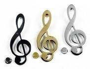 Violinschlüssel Musik mit Türklopfer, Messing