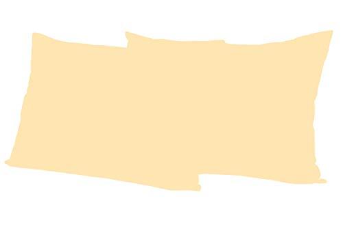 Leonado Vicenti 2 Stück Kissenbezug Baumwolle Renforce 50x70 cm Beige Kissenhülle mit Reißverschluss
