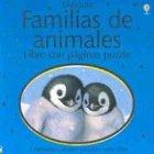 Familias de animales, puzzle (Titles in Spanish)