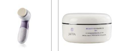 Jafra Mikrodermabrasion Set mit Gerät & Creme & 2 Applikatoren für Gesicht und Körper inkl. 2...