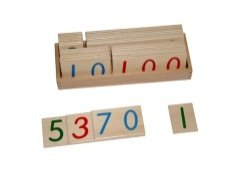 Kid Advance Co. Montessori Large Wooden Number Cards With Box