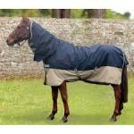 Horseware Amigo Mio All-In-One mit Halsteil Turnout lite navy/ tan (130)
