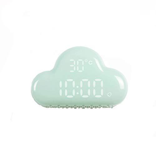catmoew Wolken Wecker Kreative Mini Home Reise Uhren für Schlafzimmer Sound Control Digital Desktop Wanduhr LED Zeit und Temperaturanzeige Snooze-Funktion