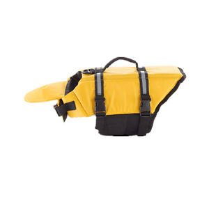 Dog Saver Life Jacket Vest Reflective Pet Preserver Aquatic Safety Yellow L