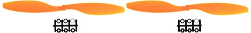 Sourcingmap a14021800ux0311 - Pair 1045 10x4.5 2 blades ccw cw orange propeller for rc aircraft models