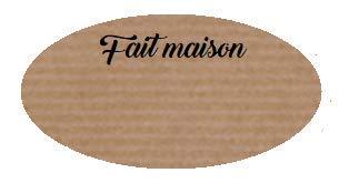 Fait Maison Klebeetiketten, oval, braun, 100 Stück