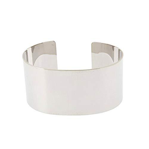 Joeyan Schöne Poliert Breite Armband Armkette Mode Damen Armspange Schmuck, Silber